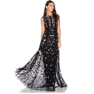NWT Needle & Thread beaded gown prom wedding black